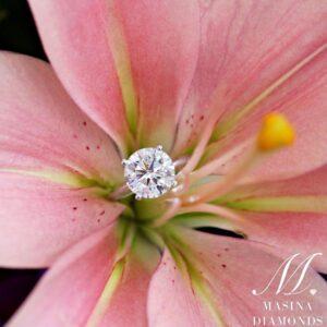 Round Solitaire Engagement Ring in Platinum