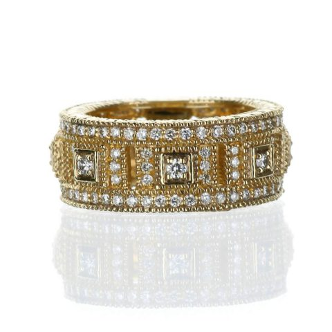 Art Deco Yellow Gold Diamond Ring