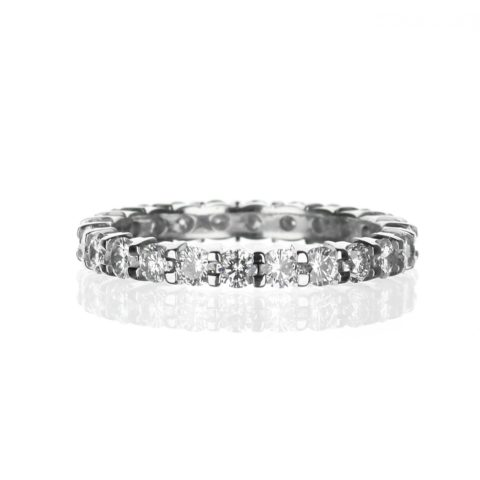 white gold diamond eternity band
