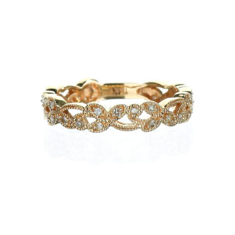 Rose gold Leaf Diamond Band