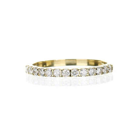 Delicate yellow gold diamond band