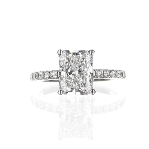 2 Carat Radiant Cut Engagement Ring