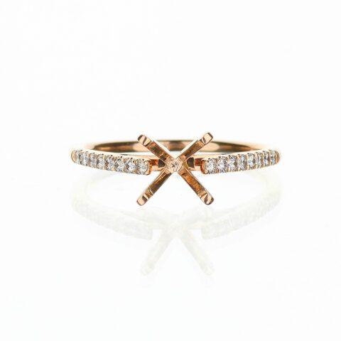 14 Karat Rose Gold Dainty Engagement Ring