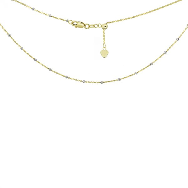14 karat yellow and white gold choker necklace