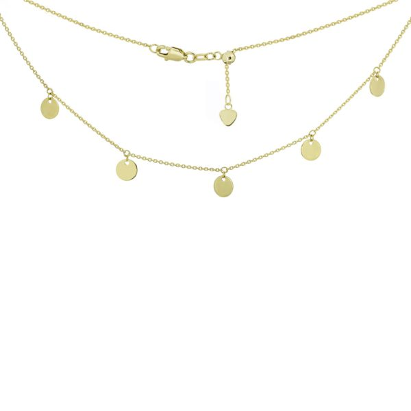 14 Karat Yellow Gold plate necklace adjustable chain