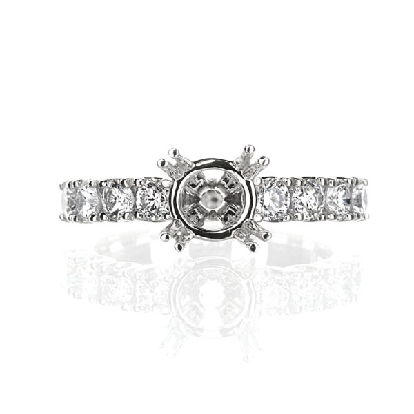 Solitaire Engagement Ring in 14 karat white gold