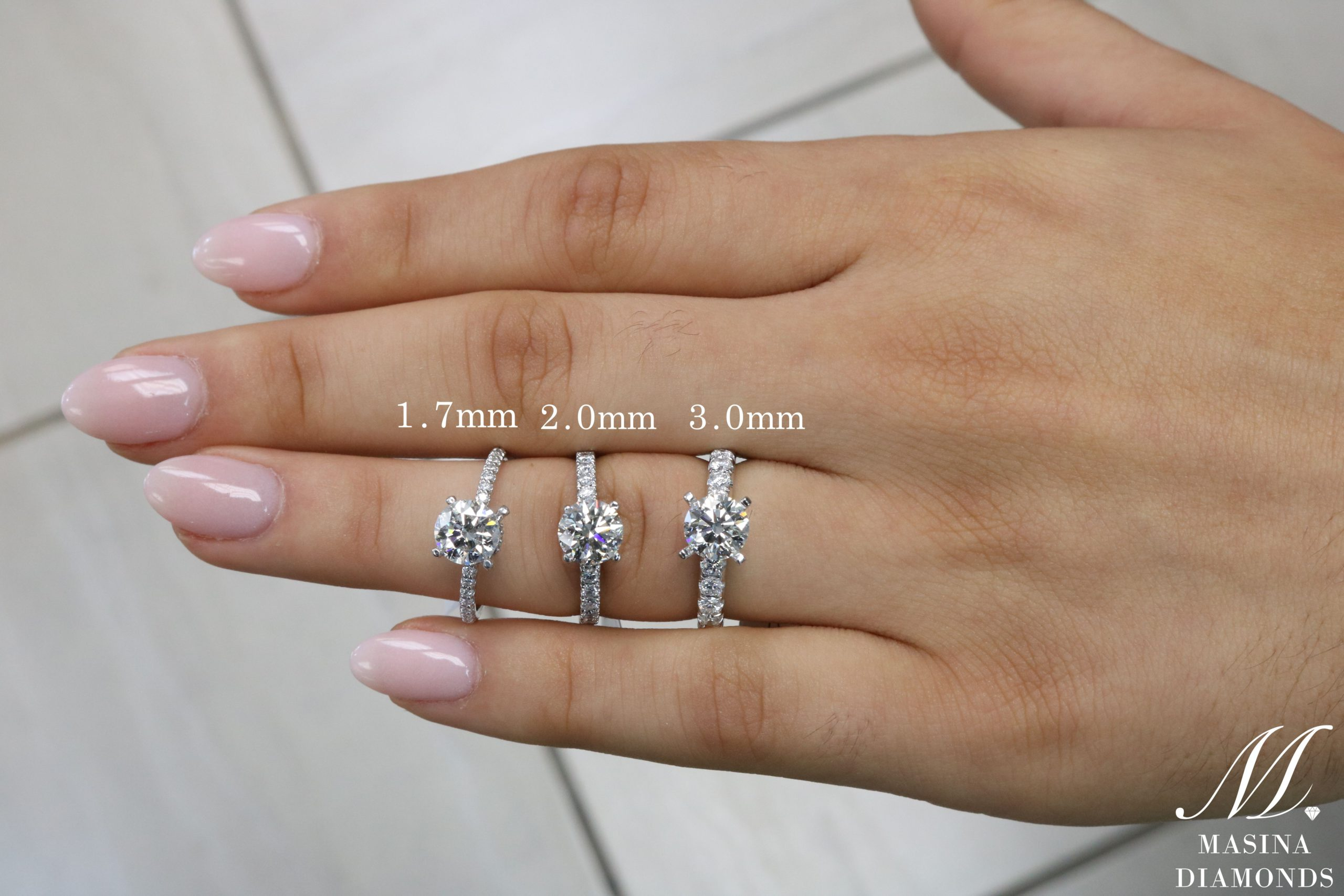 Engagement Ring Band Widths