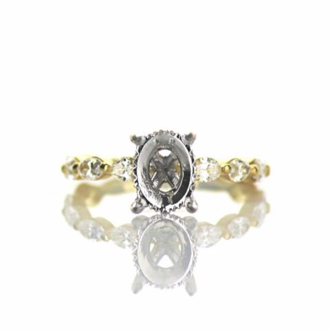 Oval Diamond Engagement Ring Setting
