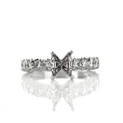 White Diamond Accent Engagement Ring