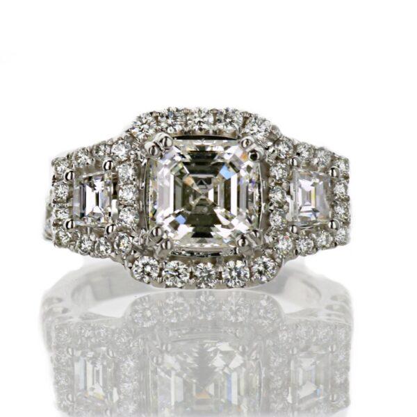 Aascher Cut Engagement Ring